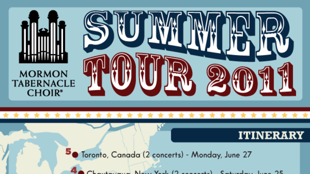 Mormon tabernacle choir summer tour Infographic