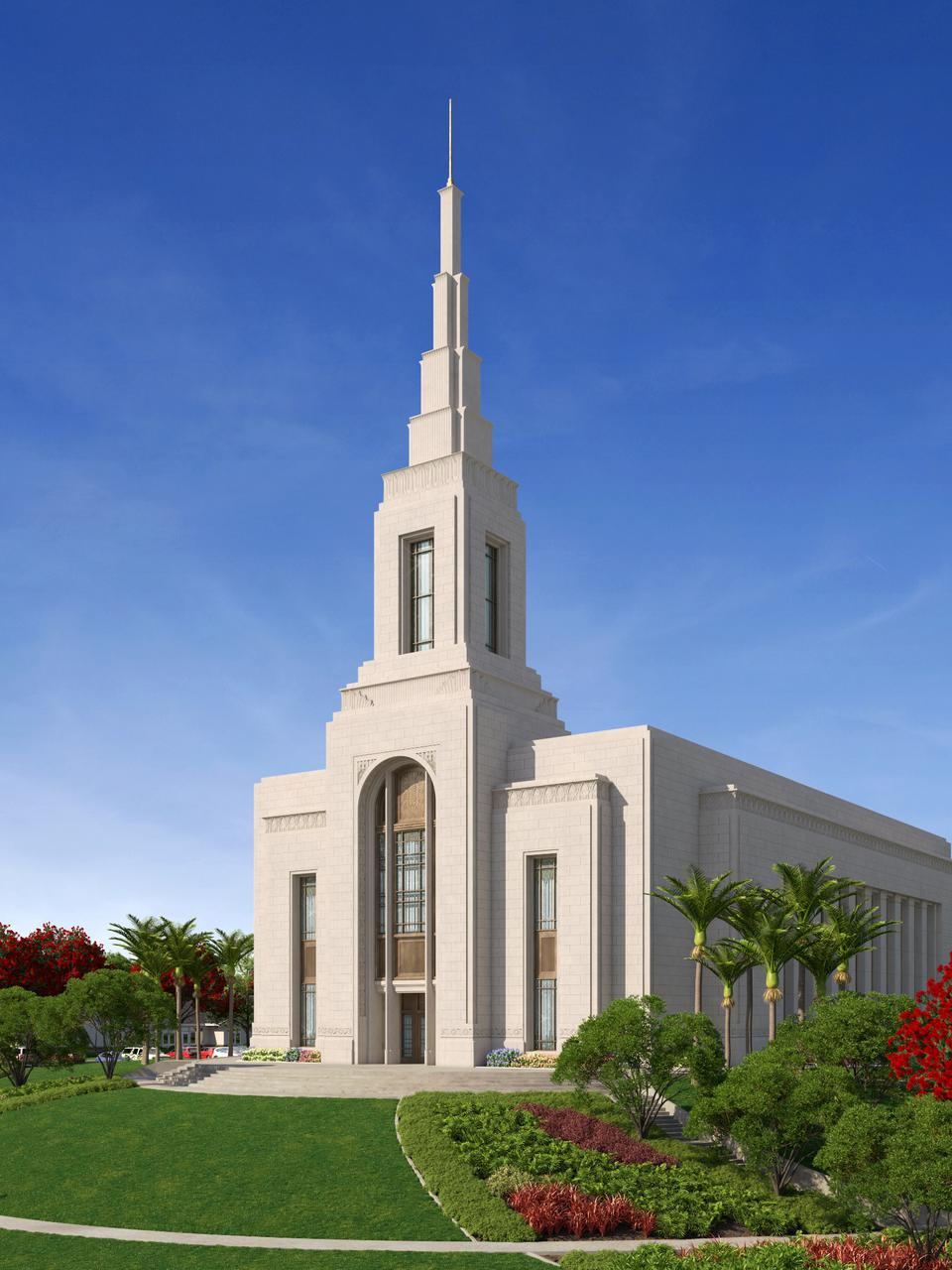 Rendering of the Auckland New Zealand Temple.