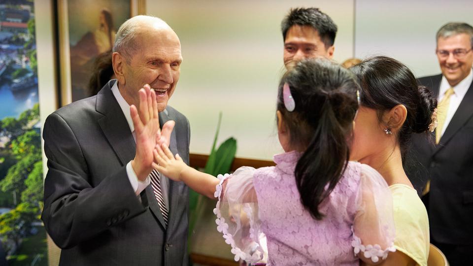 President Nelson in Singapore