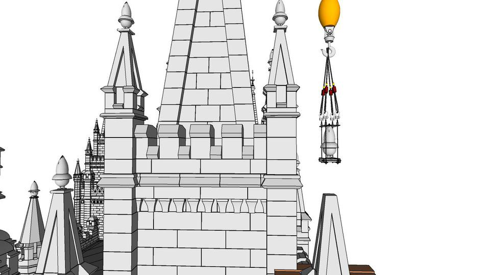 Salt Lake Temple Crane in Renovation 2020