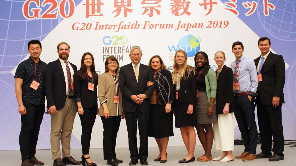제6차 G20 연례 세계 종교 포럼에 참가한 공 장로