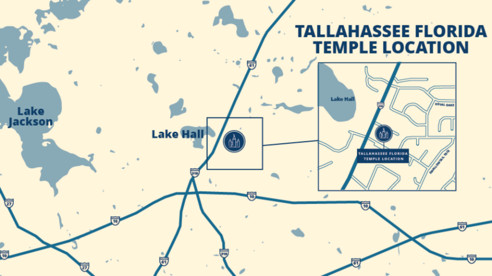Tallahassee-Florida-Temple-map