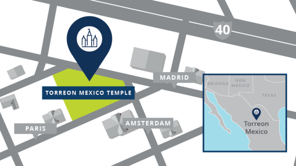Torreon-Mexico-Temple-Map