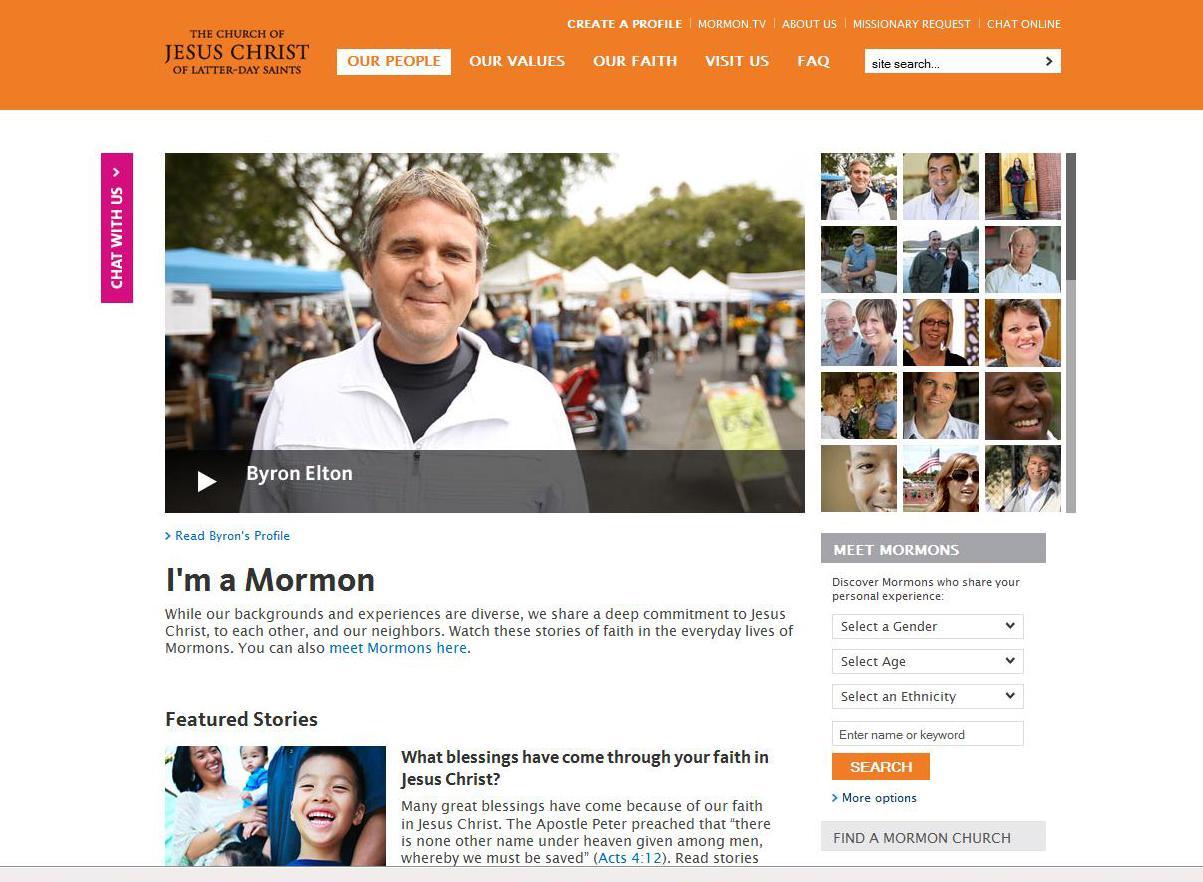 Mormon.org Selecionado como Vencedor do Prestigious Web Award