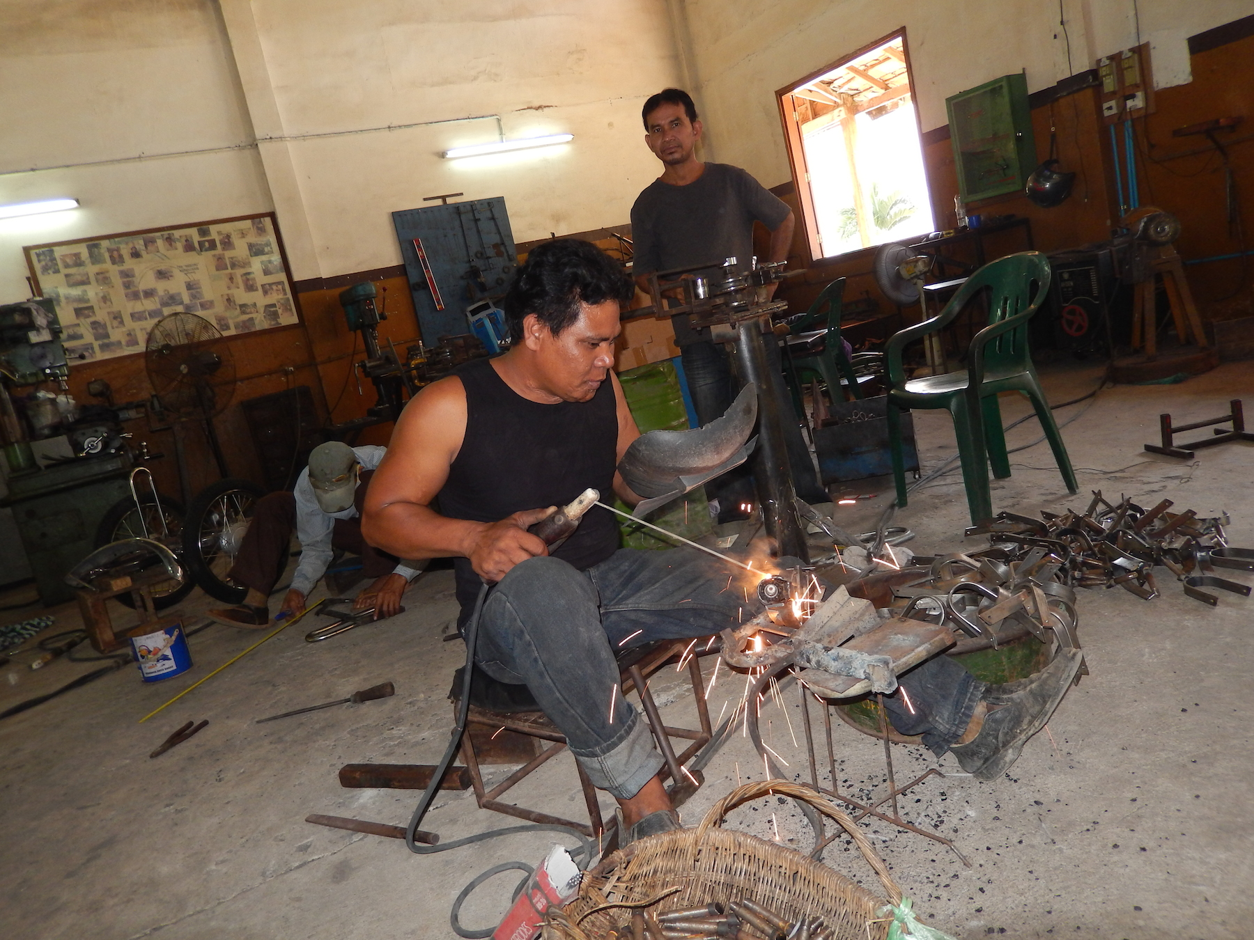 Cambodia building wheelchairs1 2015