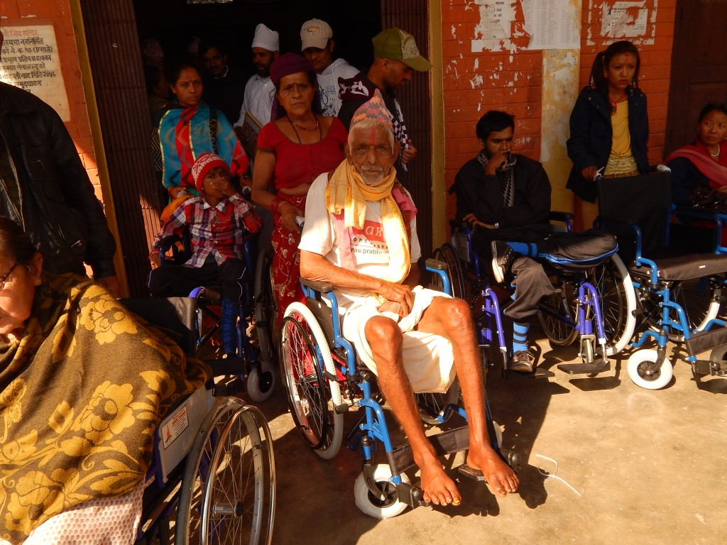 India Nepali Man in wheelchair 2014
