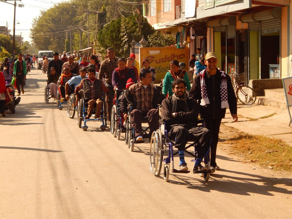 India Wheelchair parade 2014