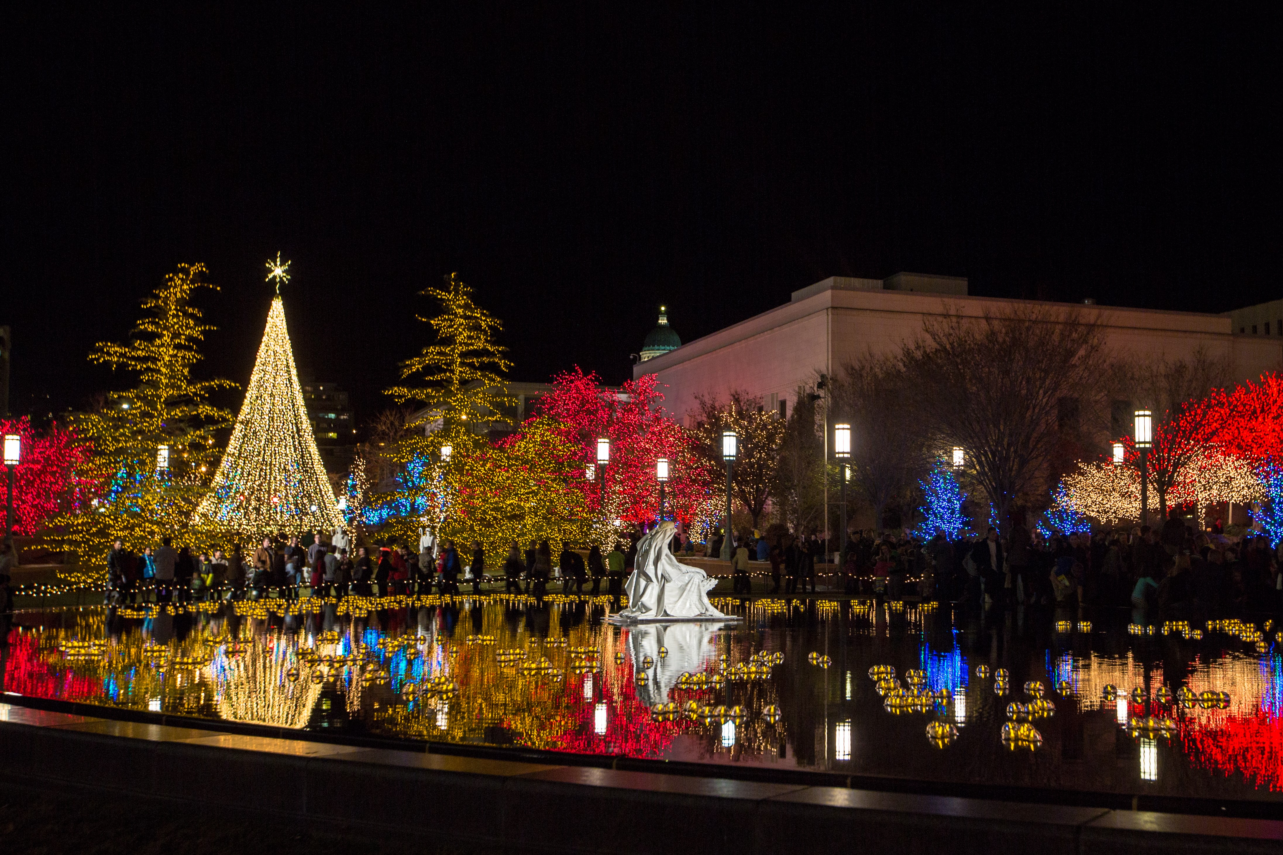 Temple Square lights3 2014