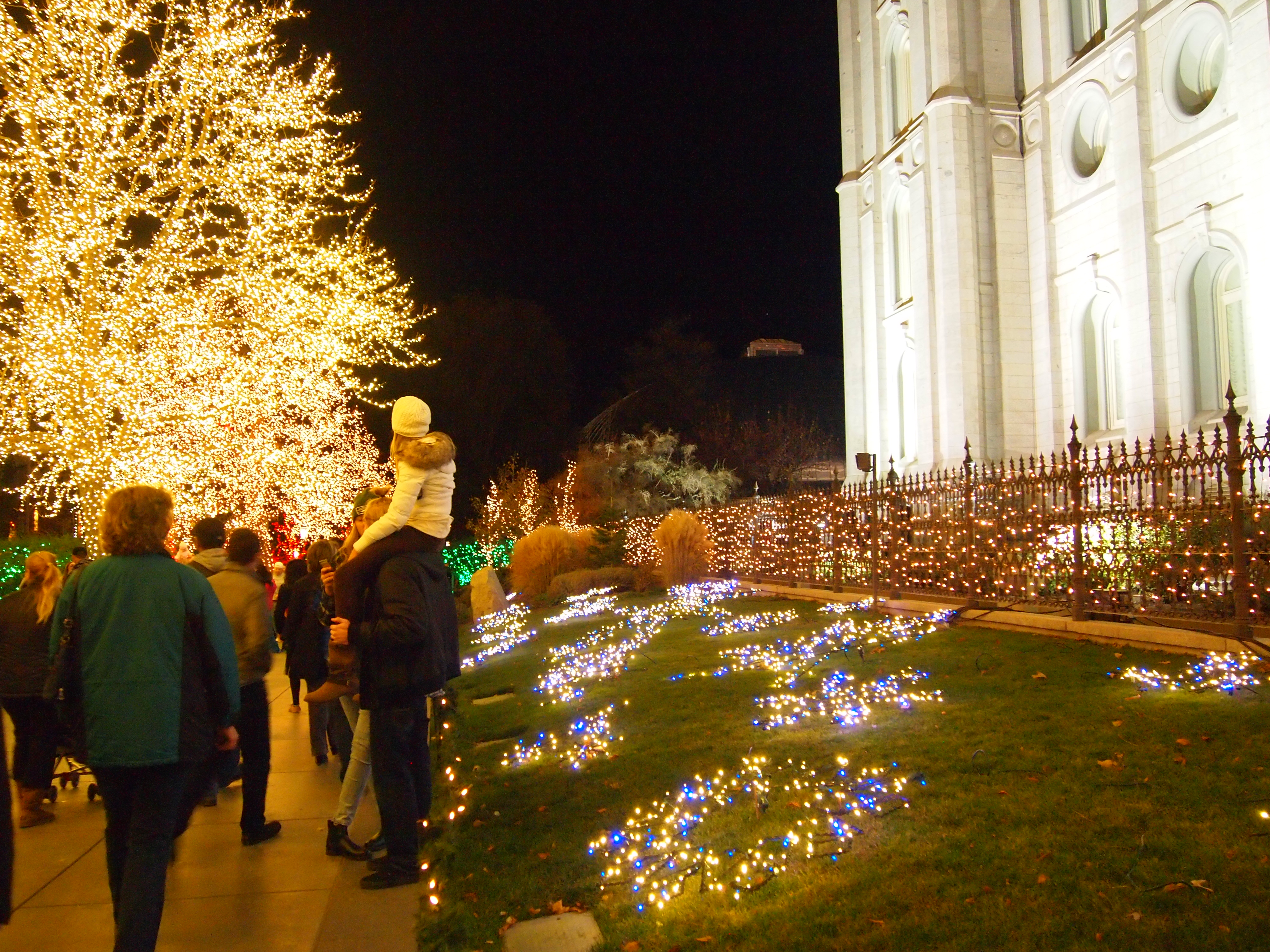 Temple Square lights9 2014